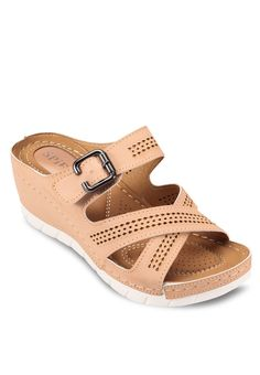 Strappy Wedges_1 Girls Sandals, Flat Sandals, Flats, Baskets, Wedges Online, Strappy Wedges, Comfy Shoes, Leather Design, Womens Slippers