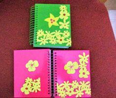 Cuadernos de notas personalizados.