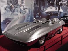 1959 XP-87 Stingray Racer  - CONCEPT CAR Continuing with the Corvette team's push to racing, Bill Mitchell took over design duties from Harley Earl in 1958. Mitchell and Zora Arkus-Duntov took the test mule for the Corvette SS and stripped it down for a new prototype race car. The car was a skunk works project and ultimately GM washed their hands of it, but it was the genesis of many Corvette developments to come.