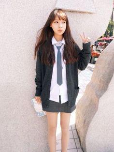 Korean girl's school uniform