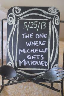 "Melis in Wis.: Michelle's ""Friends"" themed bridal shower. My favorite wedding shower!"