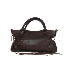 Pre-owned Balenciaga Brown Fringe Shoulder Bag (€585) ❤ liked on Polyvore featuring bags, handbags, shoulder bags, brown, shoulder strap bags, leather shoulder bag, fringe purse, leather fringe purse and brown leather handbags