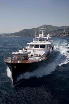 "The yacht, ""Marhaba"" Big Yachts, Super Yachts, Luxury Yachts, Yacht Boat, Boat Dock, Expo Milano 2015, Expo 2015, Trawler Boats, Expedition Yachts"