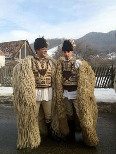 People from Răchițele, Poieni and Negreni, villages in Huedin zone in Vlădeasa Mountains (Roumanie), performing Colinde, winter custom originating in Roman Saturnalia (people going from home to home and singing good wishes to the owners)