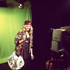 'Back in the studio filming at MTV towers' @beccadudley #mycanvasjourney #beccadudleymcj #mtvnews #toorist #huffs #drmartens