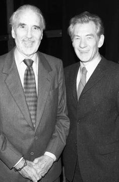 Christopher Lee & Ian McKellen