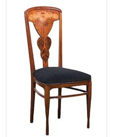 French Art Nouveau Side Chair / Louis Majorelle / Circa 1900