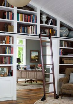 Cute Living Room Decoration Ideas With Library
