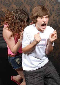 Hidden camera pictures inside halloween haunted house. LOL these are great!