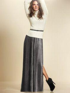Victoria's Secret Metallic Maxi Skirt http://stores.ebay.com/VSPINK-STORE