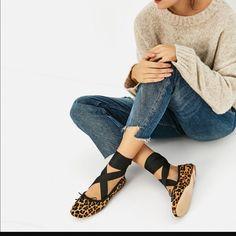 8c329a299075 Zara Ballet Flats Lace Up Ballet Flats, Leather Ballet Flats, Leather Shoes,  Zara