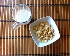 Home-made soy milk and soba