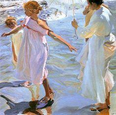 L'heure de la baignade, Joaquin Sorolla, 1909, Musée Sorolla Madrid