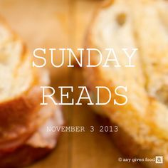 Sunday Reads #1: Comfort Eating, GM Foods & a Global Wine Shortage