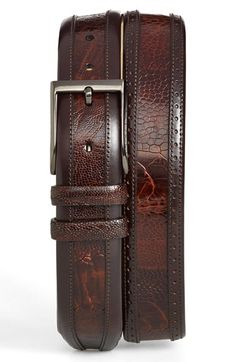 Men's Mezlan Ostrich Belt