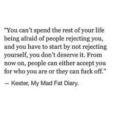 My Mad Fat Diary. British show.  Channel E4.  This show should be required viewing for women/young women/teenage girls.  It is truly extraordinary.