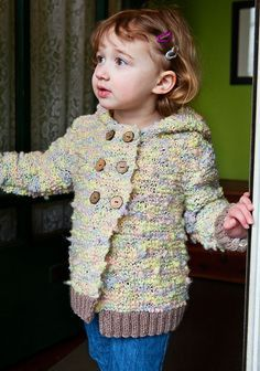 Free hooded cardi-knit in Berroco Circus™ & Vintage® Chunky- Skill level: Easy