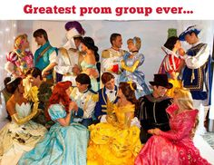 Fairy tale prom group…