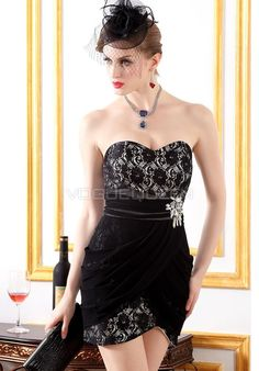 9367962d67b Sweetheart Sheath  Column Lace   Chiffon Empire Evening Dress -  Voguequeen.com