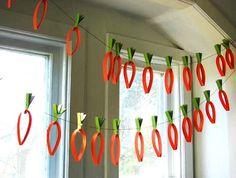 paper carrot garland