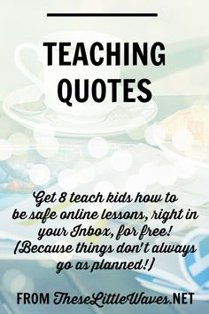 Teaching quotes are the BEST. The funny, the stick-to-your-ribs good, the heart warming. I think that if one teaching quote sums it all up for me it's this: Things don't always go as planned! Isn't that so the truth? This article is actually about digital education. Teaching students about the internet is one more thing that needs to go in our tool belts, whether we're prepared to teach this or not. So this covers 8 lessons we can use to teach students how to be safe online and how to be…