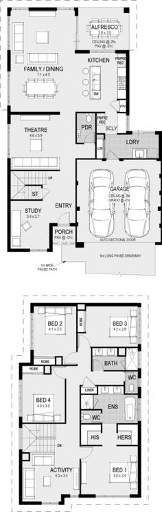 I'd make the theater in the ground floor into an office and all rooms on the upper floor into a en suit - The Chicago floorplan