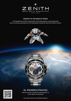 I want this Zenith watch that Felix Baumgartner wore during his records breaking jump