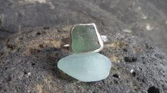 1385 Seafoam Square Seaglass Ring – Roche Designs