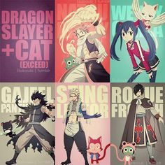 Fairy Tail: Natsu and Happy, Wendy and Carla, Gajeel and Lily, Sting and Lector, Rogue and Frosch Fairy Tail Art, Fairy Tail Guild, Fairy Tail Ships, Fairy Tail Anime, Fairy Tales, Fairy Tail Rogue, Nalu, Fairytail, Erza Scarlet