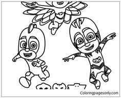 Night Ninja Pj Masks Coloring Page - Free Coloring Pages Online Pj Masks Coloring Pages, Coloring Pages For Kids, Coloring Books, Fine Motor Skills, Night Time, Easy Crafts, Ninja, Disney Characters, Fictional Characters