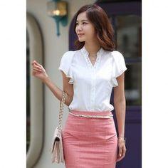 Blusas | Cheap blanco y blusas lindas para las mujeres en línea a precios de mayorista | Sammydress.com Página 6