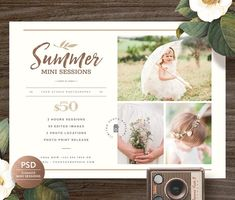 Summer Mini Session MS036 by Bellenity Design on @creativemarket
