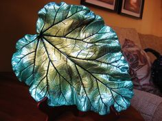 Concrete Leaf Casting by ConcreteImpressions on Etsy, $41.00
