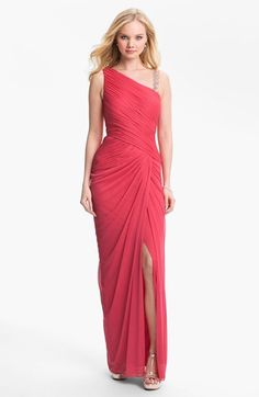 Adrianna Papell Embellished Mesh Gown available at #Nordstrom