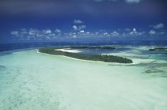 St Joseph Atoll - View from helicopter