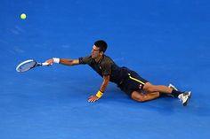 Djokovic threw everything into the rallies - including himself
