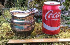 SOLD --- Solid Sterling Silver Milk Cream Jug Heavy Sheffield HM Date Y 1966 Part Tea Set