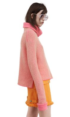 Vasya two tone turtleneck sweater #AcneStudios #PreFall2016