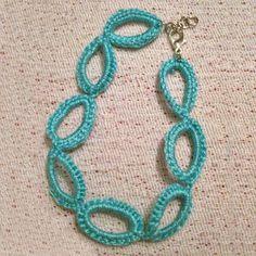 Γαλάζιο βραχιόλι με κρίκους / Light blue loop bracelet - Fluffy Bunny e-shop Fluffy Bunny, Veronica, Crochet Earrings, Light Blue, Bracelets, Jewelry, Jewlery, Jewerly, Schmuck