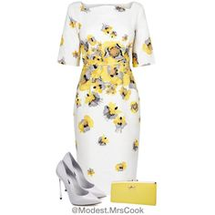 Yellow by mrscclife on Polyvore featuring moda, L.K.Bennett and Casadei
