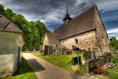 In Finland, this stone church was built in the late or early Rymättylä Church dedicated to St. From: HDR Creme, please visit Grave Monuments, Graveyards, Old Stone, 14th Century, Hdr, Finland, Jewel, Medieval, Tours