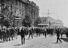 Trial Run of the First Electric Tramcar in Adelaide - December 1908 White Tractor, City Of Adelaide, Adelaide South Australia, History Photos, Historical Pictures, Family History, Trials, Aunt, Tractors