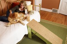 STEP-BY-STEP: A handy ramp that collapses for storage and hides away could be just what your aging pup needs (Photo: Wendell T. Webber)
