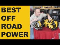 The best solution for power off road! Dewalt offers a solution for jump starting, power inverter, charging, and airing up tires, all in one unit. Best jump s. Dewalt Power Tools, All In One, Youtube, Youtubers, Youtube Movies