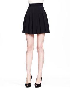 Flirty, top of the line pleated miniskirt