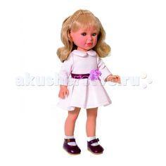 Vestida de Azul Паулина блондинка волна Весна Оксфорд  Vestida de Azul Паулина блондинка волна Весна Оксфорд - эта изящная блондинка восхищает с первого взгляда своим милым и реалистичным личиком, стильной прической с волнами, а также изысканным весенним образом в стиле оксфорд.  Особенности: Изящная блондинка Паулина в стильном наряде: светлое платье с круглым воротничком, пышной юбкой. Строгий весенний образ в осфордском стиле поможет сформировать вкус ребенка. У куклы очень приятное и…