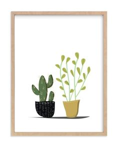 """POTTED"" - Art Print by Rushmi in beautiful frame options and a variety of sizes."
