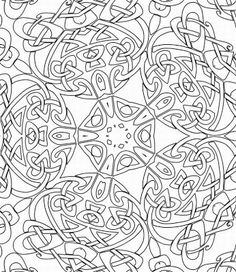 pen illustration printable coloring page zentangle inspired henna ... - Coloring Pages Abstract Designs
