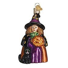 Old World Christmas Cute Witch Glass Blown Ornament