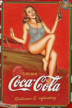 Coca-Cola pin-up